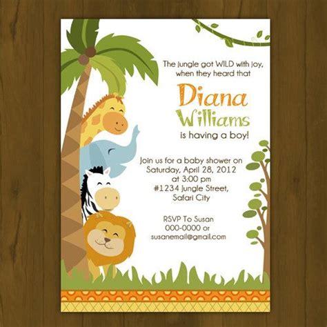 free printable zoo animal baby shower invitations safari baby shower invitation jungle baby shower