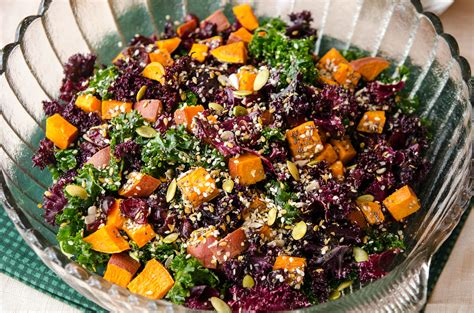 autumn kale salad recipe vegan cuts