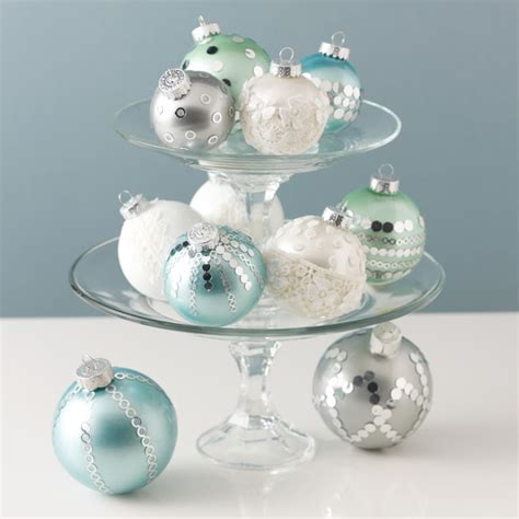 martha stewart white christmas ornaments diy martha stewart
