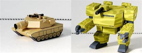 sd tank and robot papercrafts papercraft paradise