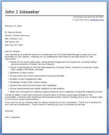 cover letter for media cover letter exles for social media cover letter