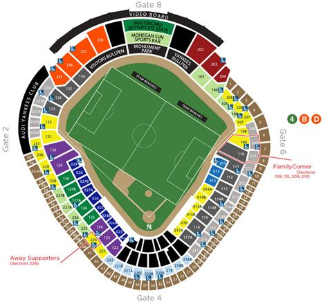 yankee stadium seating chart view section nycfc seating chart yankee stadium soccer seating chart