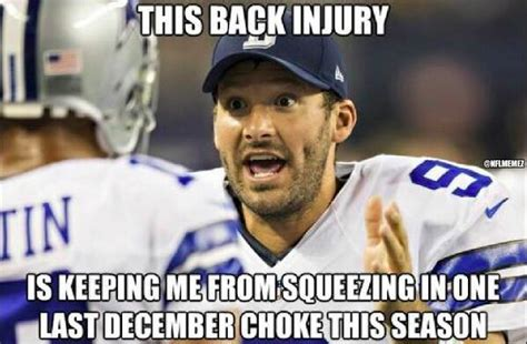 Tony Romo Injury Meme - nfl memes on twitter quot tony romo s back injury nfl