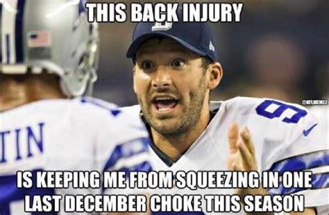tony romo injury meme nfl memes on quot tony romo s back injury nfl
