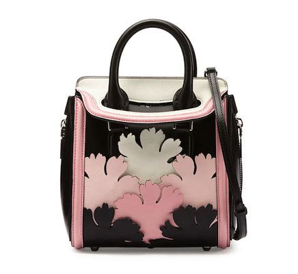 Trovata Canvas And Patent Tote The Bag Snob 8 by Mcqueen Heroine Mini Cutout Satchel Bag