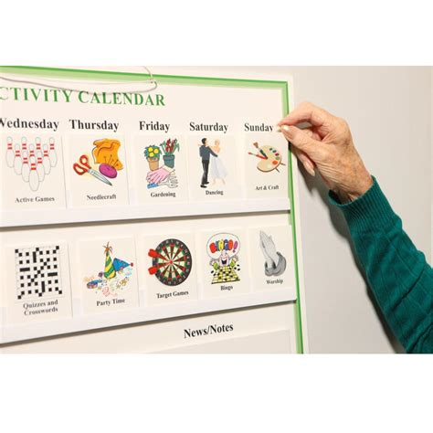 Calendar For Home Activities For Elderly With Dementia And Alzheimer