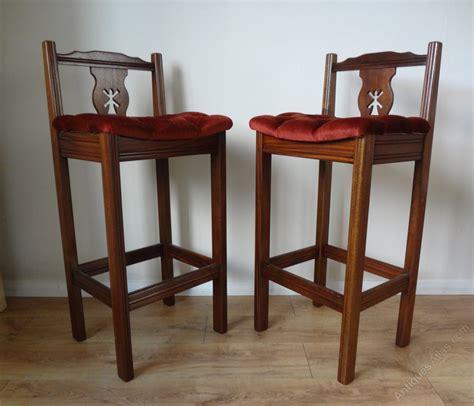 mahogany bar stools uk antiques atlas mahogany bar stools
