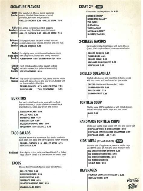 Printable Menu For Qdoba | qdoba mexican grill state college pa 16801
