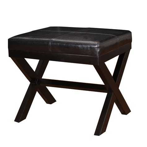 ottoman legs joveco bonded leather ottoman featuring x shaped legs