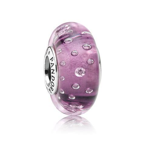 pandora purple fizzle murano charm 791616cz pandora from