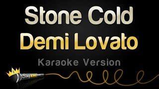 stone cold by demi lovato karaoke sing king karaoke viyoutube