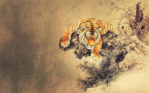 tiger tattoo hd wallpaper cool oriental wallpaper 1920x1200 15252