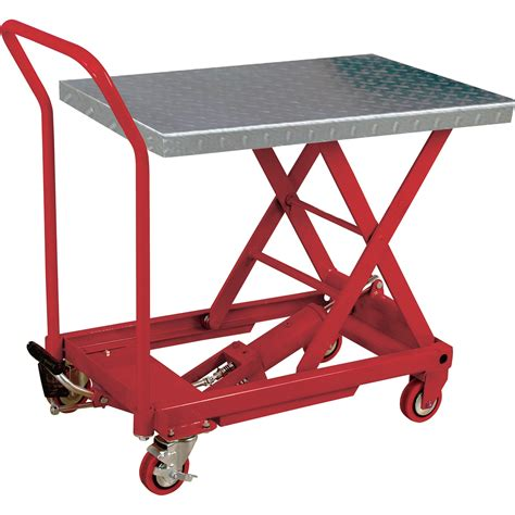 hydraulic lift table cart product northern industrial tools hydraulic table cart
