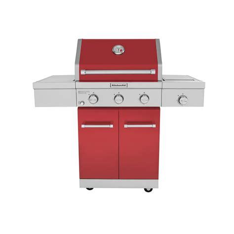 Kitchenaid Grill Warranty Kitchenaid 3 Burner Propane Gas Grill In With Ceramic