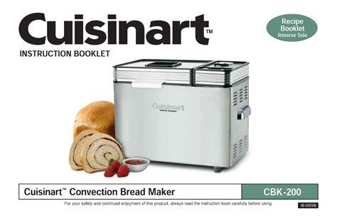 bread maker recipe book ebay cuisinart cbk100 cbk200 bread maker machine replacement