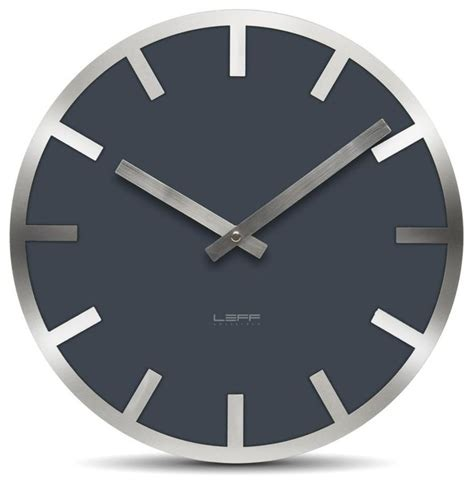 modern wall clock metlev35 wall clock grey index modern wall clocks