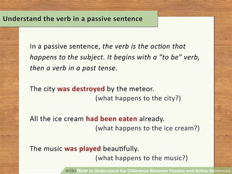 what is the sentence pattern of passive voice how to understand the difference between passive and