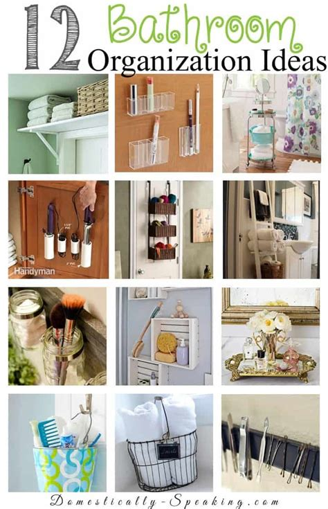 bathroom organizing ideas 12 bathroom organization ideas domestically speaking