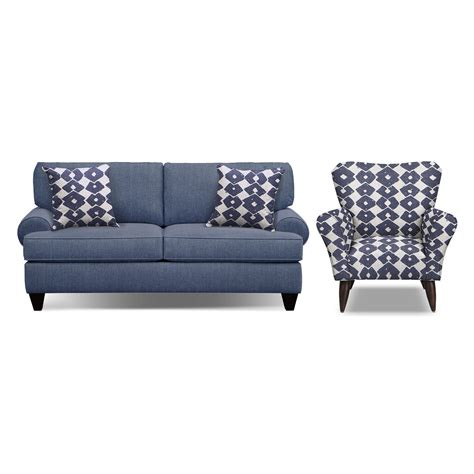 Sofa And Accent Chair Set by Bailey Blue 79 Quot Quot Memory Foam Sleeper Sofa And Accent Chair