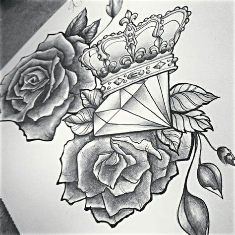 tattoo diamond drawing roses and diamond tattoo google search tattoos