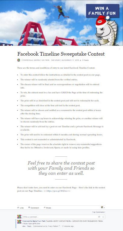 Facebook Giveaway Terms And Conditions - how to run a facebook timeline sweepstake contest step by step