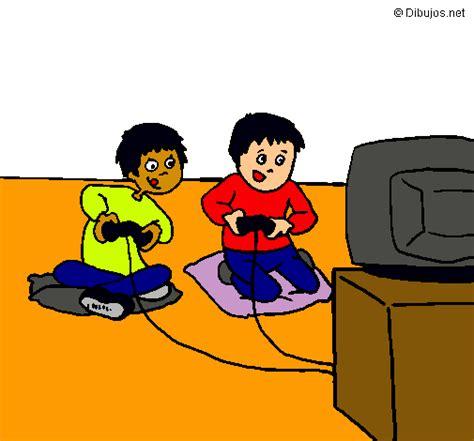 dibujos de niños jugando xbox dibujo de ni 241 os jugando pintado por arocha en dibujos net