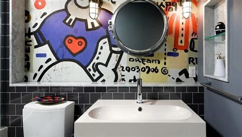 graffiti in bathrooms have you ever considered using street art in interior design