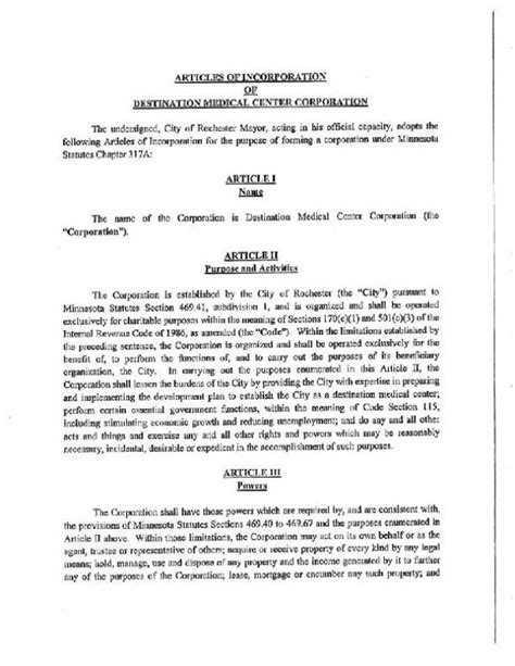 sle of articles of incorporation dmcc articles of incorporation postbulletin home