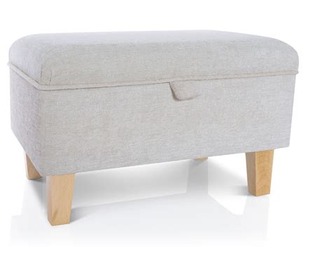 Small Footstool With Storage Storage Footstool Ottoman Blanket Box Seat Pouffe