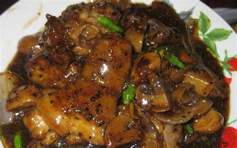 Minyak Ikan Buat Ayam Bangkok resepi ayam masak lada hitam resepi bonda