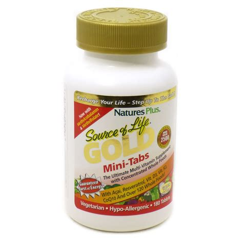 Multivitamin Plus source of gold energy multivitamin by nature s plus