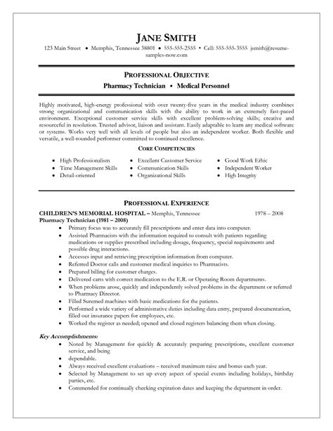 resume sle for pharmacy technician pharmacy technician teaching resume sales technician