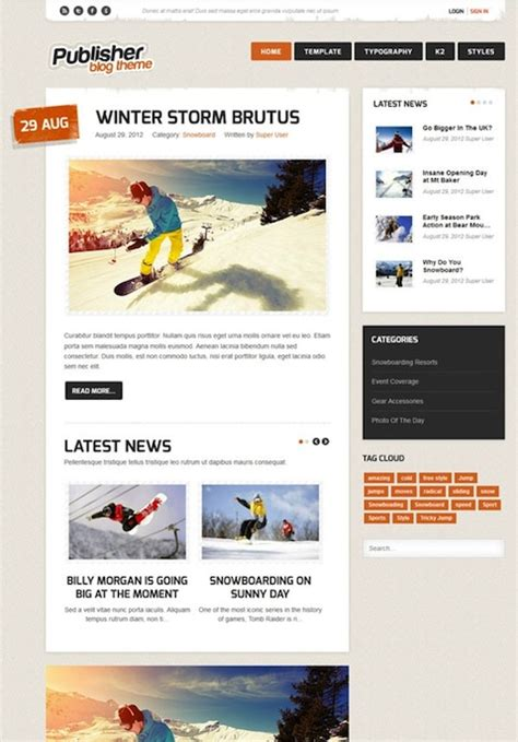 free joomla templates for blogger premium joomla 3 0 blog template publisher