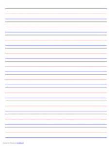 colored lined paper penmanship paper 10 colored lines landscape free