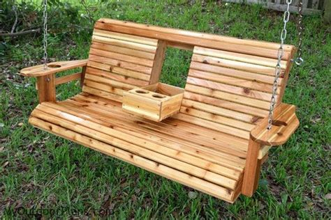 Diy Craft Projects For The Yard And Garden - unwind in your yard with a diy wood porch swing with cup holders