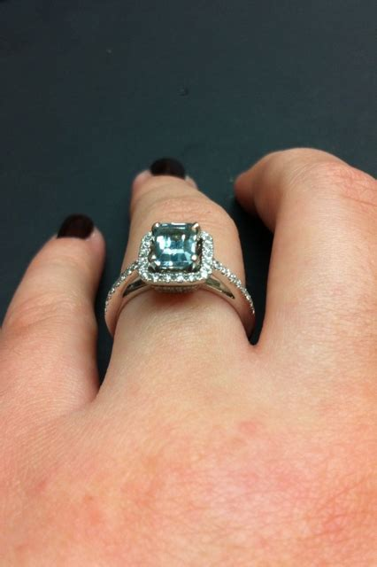 Need Pics of 1 ct Emerald Cut Diamond Ring on Size 6 Finger
