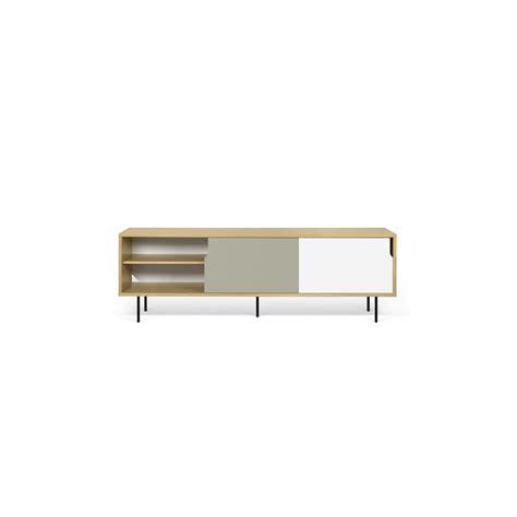 Table Blanche Pied Bois 4666 by Meuble Tv Danois Gris Blanc Et Bois Arne Concept