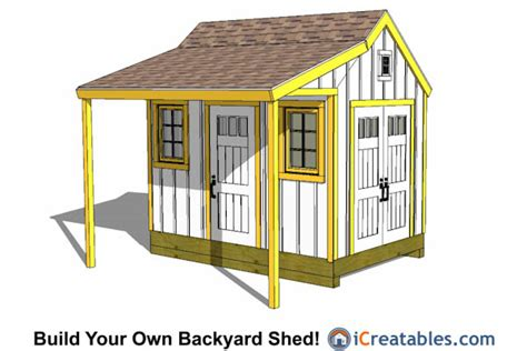 Building A 8x12 Shed by 8x12 Shed Plans Buy Easy To Build Modern Shed Designs