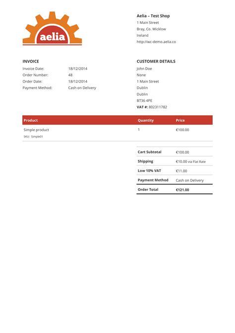 sle pdf invoice original aelia
