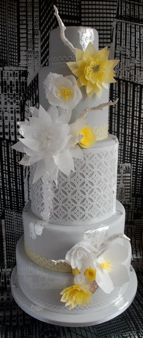 yellow and grey wedding cakes a wedding cake blog 1000 images about rice paper flowers on pinterest rice