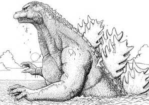 recreational break 10 godzilla coloring pages and pictures