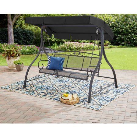 mainstays 3 person swing mainstays jefferson 3 person swing walmart com