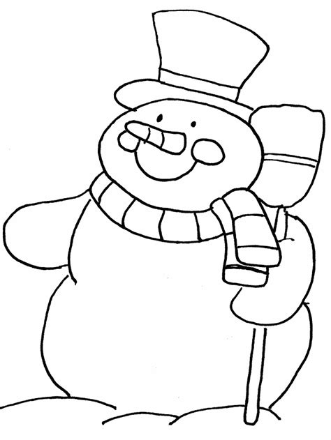 free snowman template coloring pages