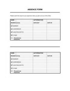 absenteeism policy template absence form template sle form biztree
