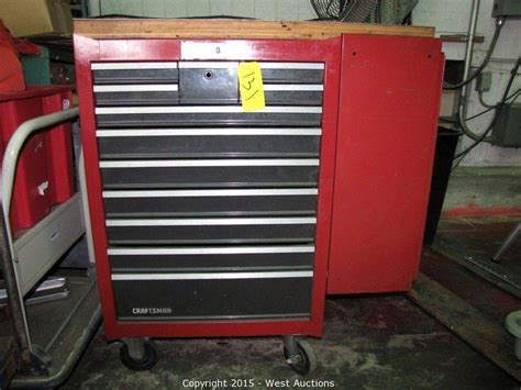 craftsman 12 drawer tool box west auctions auction machinery tools and equipment