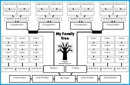excel family tree template family tree lesson plans large