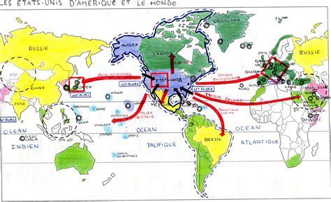 carte du monde etats unis