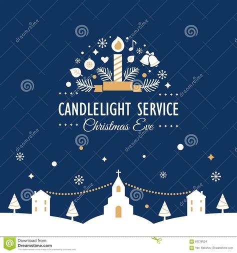 light services candlelight service invitation card stock