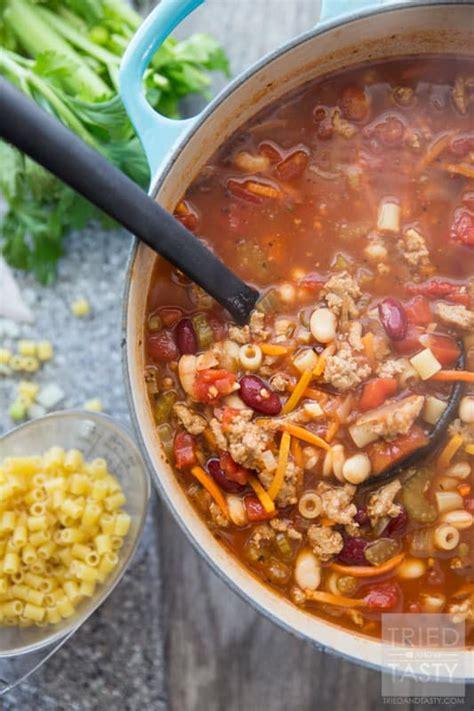 copycat olive garden pasta e fagioli tried and tasty