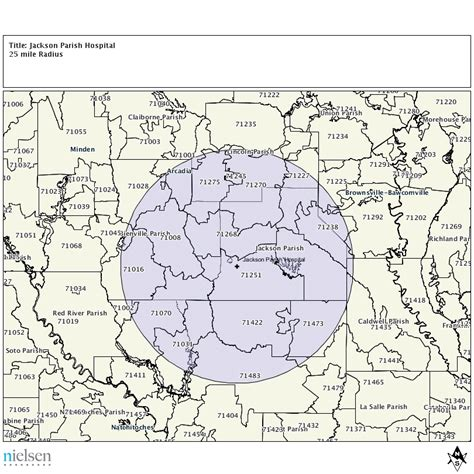 jackson louisiana map primary service areas of rural hospitals department of